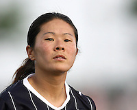 Homare Sawa #10 of the Washington Freedom scored the second goal during a WPS match against the Chicago Red Stars at the Maryland Soccerplex, in Boyds Maryland on June 12 2010. The game ended in a 2-2 tie.