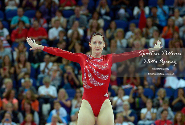 Katherine Driscoll (GBR, Great Britain). Trampoline - PHOTO: Mandatory by-line: Garry Bowden/SIP/Pinnacle - Photo Agency UK Tel: +44(0)1363 881025 - Mobile:0797 1270 681 - VAT Reg No: 768 6958 48 - 04/08/2012 - 2012 Olympics - North Greenwich Arena, London, England.