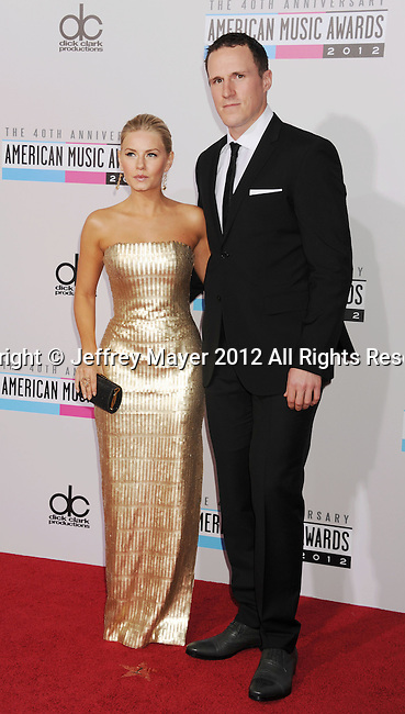 LOS ANGELES, CA - NOVEMBER 18: Elisha Cuthbert and guest attend the 40th Anniversary American Music Awards held at Nokia Theatre L.A. Live on November 18, 2012 in Los Angeles, California.