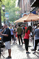 ALEXANDRIA, VA - MAY 16: Views of locals ad businesses as people Ignore stay at home and social distancing orders during the coronavirus pandemic as temperatures start to hit low to mid 80's in Alexandria, Virginia on May 16, 2020. <br /> CAP/MP34<br /> ©MPI34/Capital Pictures