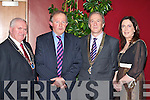Sean Clifford (CIF Kerry Chairperson), Tom Parlon (CIF Director General), Frank Fogarty (CIF President) and Patsy Supple (CIF Cork Chairperson) at the Construction Industry Federation ball in the Malton Hotel on Friday night    Copyright Kerry's Eye 2008