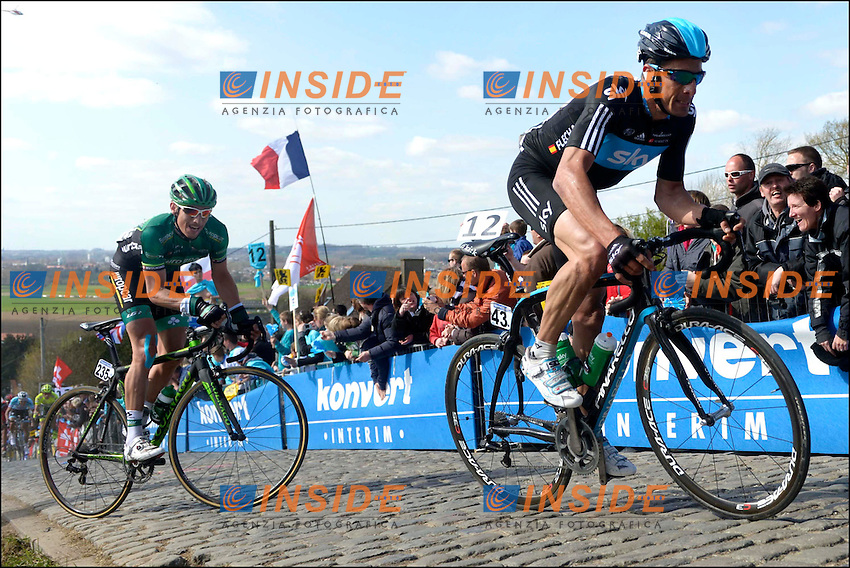 FLECHA GIANNONI Juan Antonio of Team SKY  .OUDENAARDE AUDENARDE 1/4/2012.Ciclismo Giro delle Fiandre.Foto Insidefoto / Photo News / Panoramic.ITALY ONLY .ITALY ONLY