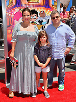 "Patton Oswalt, Meredith Salenger & Children at the premiere for ""Teen Titans Go! to the Movies"" at the TCL Chinese Theatre, Los Angeles, USA 22 July 2018<br /> Picture: Paul Smith/Featureflash/SilverHub 0208 004 5359 sales@silverhubmedia.com"