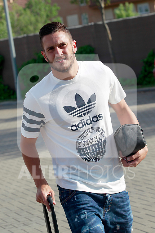 Spain's Koke Resurreccion arrives to the national football team stage to train the qualifying matches for the 2018 World Cup in Russia. June 3,2017.(ALTERPHOTOS/Acero)
