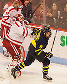 Brandon Fortunato (BU - 25), Sean Maguire (BU - 31), Brian Christie (Merrimack - 8) - The Boston University Terriers defeated the visiting Merrimack College Warriors 4-0 (EN) on Friday, January 29, 2016, at Agganis Arena in Boston, Massachusetts.