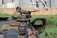 - European military exercises in center Italy, French armored vehicle ....- Esercitazioni militari europee in Italia centrale, veicolo blindato francese