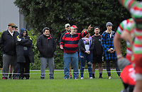 Fans watch the 2019 Wellington colts John E Kelly Memorial Cup rugby final between Hutt Old Boys Marist and Old Boys University Green at Petone Rec in Wellington, New Zealand on Saturday, 27 July 2019. Photo: Dave Lintott / lintottphoto.co.nz