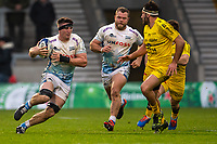 24th November 2019; AJ Bell Stadium, Salford, Lancashire, England; European Champions Cup Rugby, Sale Sharks versus La Rochelle; Ben Curry of Sale Sharks runs with the ball - Editorial Use