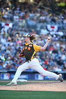 Josh Hader of the USA Team pitches against the World Team during The Futures Game at Petco Park on July 10, 2016 in San Diego, California. World Team defeated USA Team, 11-3. (Larry Goren/Four Seam Images)