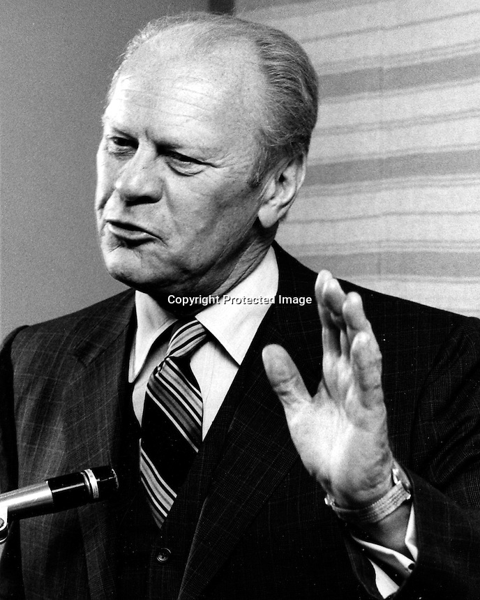 Former United States President Gerald R. Ford.(1980 photo by Ron Riesterer)