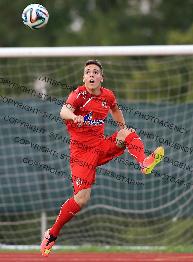 Fudbal season 2013-2014<br /> FK Crvena Zvezda pripreme<br /> Crvena Zvezda v Krka<br /> Mihailo Ristic<br /> Novo Mesto, 07.12.2014.<br /> foto: Srdjan Stevanovic/Starsportphoto &copy;