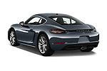Car pictures of rear three quarter view of 2017 Porsche 718 Cayman 3 Door Coupe Angular Rear