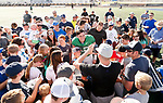 _W1_8558<br /> <br /> The BYU Football Team holds a public practice and Fan Fest at Dixie High School in St. George, Utah.<br /> <br /> 2017 BYU Football - Spring Practice March 17, 2017<br /> <br /> March 17, 2017<br /> <br /> Photo by Jaren Wilkey/BYU<br /> <br /> &copy; BYU PHOTO 2017<br /> All Rights Reserved<br /> photo@byu.edu  (801)422-7322