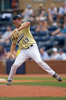 Mark Pope #19 of the Georgia Tech Yellow Jackets in action versus the Florida State Seminoles at Durham Bulls Athletic Park May 23, 2009 in Durham, North Carolina.  (Photo by Brian Westerholt / Four Seam Images)