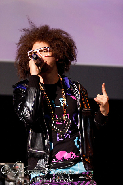 LMFAO performing at Mohegan Sun Arena on February 27, 2010