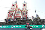 Trek-Segafredo rider in action during Stage 16 of the La Vuelta 2018, an individual time trial running 32km from Santillana del Mar to Torrelavega, Spain. 11th September 2018.                                                                             Picture: Unipublic/Photogomezsport | Cyclefile<br /> <br /> <br /> All photos usage must carry mandatory copyright credit (&copy; Cyclefile | Unipublic/Photogomezsport)
