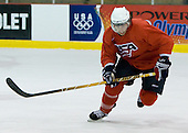 Aaron Palushaj (US Blue - 20)  - US players take part in practice on Friday morning, August 8, 2008, in the NHL Rink during the 2008 US National Junior Evaluation Camp and Summer Hockey Challenge in Lake Placid, New York.