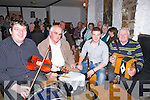 CEOIL AGUS CRAIC: Ceoil agus craic at Yolpp Bar, CVauseway as they celebraty the Fleadh Cehoil nin Causeway on Saturday night some of the musician who entained the crowds at Yalopp Bar, Causeway l-r: Jame Duggan and John McElligott (Listowel), Colm Guilfoyle (Kilcummin) and Eddie Browne.......