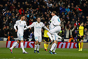 6th December 2017, Santiago Bernabeu, Madrid, Spain; UEFA Champions League football, Real Madrid versus Dortmund; Cristiano Ronaldo dos Santos (7) Real Madrid celebrates after scoring his team´s 2nd goal