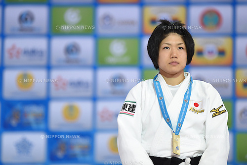 Misato Nakamura (JPN), AUGUST 25, 2015 - Judo : World Judo Championships Astana 2015 Women's -52kg Medal Ceremony at Alau Ice Palace in Astana, Kazakhstan. (Photo by AFLO SPORT)