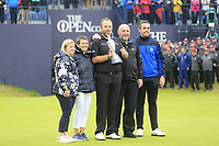 Family photo as Shane Lowry (IRL) wins the Championship by 6 shots at the end of Sunday's Final Round of the 148th Open Championship, Royal Portrush Golf Club, Portrush, County Antrim, Northern Ireland. 21/07/2019.<br /> Picture Eoin Clarke / Golffile.ie<br /> <br /> All photo usage must carry mandatory copyright credit (© Golffile | Eoin Clarke)
