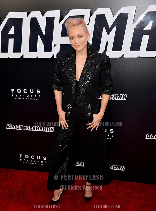 Pom Klementieff at the Los Angeles premiere of &quot;BlacKkKlansman&quot; at the Academy's Samuel Goldwyn Theatre, Beverly Hills, USA 08 Aug. 2018<br /> Picture: Paul Smith/Featureflash/SilverHub 0208 004 5359 sales@silverhubmedia.com