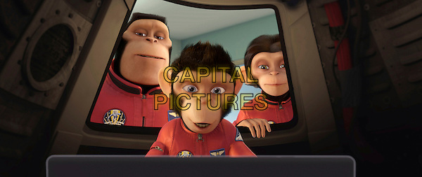 Titan, Comet and Luna .in a scene from Space Chimps.*Filmstill - Editorial Use Only* .CAP/FB .Supplied by Capital Pictures