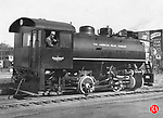 An American Brass Co. locomotive in Waterbury during the 1930s.