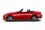 Car Driver side profile view of a 2015 Mazda MX-5 Miata Club Auto 2 Door Convertible Side View