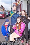 The 'Town Ramblers' Oisin Brennen(Newcastlewest), Ciara Brosnahan(Templeglantine), Laoise Curtin(Tournafulla) and Larissa McCarthy(Tournafulla) playing on the streets of Abbeyfeale for the annual Fleadh by the Feale last Friday evening.