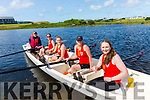 The Fossa Pre Vet Ladies in First place at the County Coastal Rowing Championships in Waterville on Saturday, pictured l-r; Róisín Murphy(cox), Patrica Blennerhassett, Nula O'Connor, Maura O'Grady-Mann, Siobhan Fleming.  Sneem took second followed by Workmen in third place.