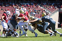 STANFORD, CA - September 15, 2018: Davis Mills at Stanford Stadium. The Stanford Cardinal defeated UC Davis, 30-10.