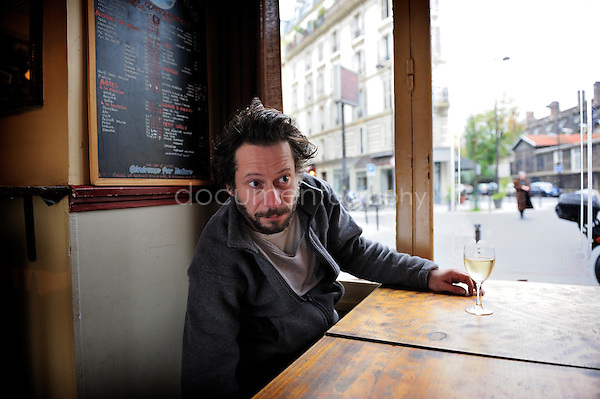 copyright: Magali Corouge/ Documentography..portrait of the French actor Mathieu Amalric in Paris on the 23rd of november 2010.