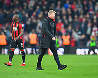 A happy AFC Bournemouth Manager Eddie Howeg during AFC Bournemouth vs Arsenal, Premier League Football at the Vitality Stadium on 14th January 2018
