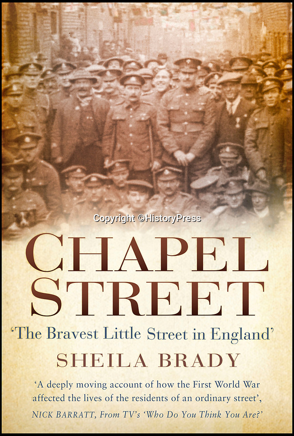 BNPS.co.uk (01202 558833)Pic: HistoryPress/BNPS<br /> <br /> Chapel Street.<br /> <br /> 'The Bravest Little Street in England'.<br /> <br /> The remarkable story of a humble street which was described by the king as 'the bravest in England' is told in a new book.<br /> <br /> The inhabitants of Chapel Street in Altrincham, Greater Manchester, displayed an unrivalled devotion of duty when Lord Horatio Kitchener made the rallying call for men to enlist in the First World War.<br /> <br /> From the tight-knit community of just 60 houses, a staggering 161 men volunteered - 81 of them on the first day.<br /> <br /> Tragically, however, 29 men from the street were killed in action, more than from any other street in England.