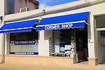 British corner shop in Orba village, Marina Alta, Alicante province, Spain