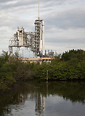 The SpaceX Falcon 9 rocket, with the Dragon spacecraft onboard, is seen at Launch Complex 39A at NASA's Kennedy Space Center in Cape Canaveral, Florida, Saturday, June 3, 2017. Dragon is carrying almost 6,000 pounds of science research, crew supplies and hardware to the International Space Station in support of the Expedition 52 and 53 crew members. The unpressurized trunk of the spacecraft also will transport solar panels, tools for Earth-observation and equipment to study neutron stars. This will be the 100th launch, and sixth SpaceX launch, from this pad. Previous launches include 11 Apollo flights, the launch of the unmanned Skylab in 1973, 82 shuttle flights and five SpaceX launches. <br /> Mandatory Credit: Bill Ingalls / NASA via CNP