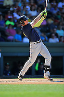 First baseman Jeff Diehl (24) of the Columbia Fireflies bats in a game against the Greenville Drive on Sunday, April 24, 2016, at Fluor Field at the West End in Greenville, South Carolina. Greenville won, 5-1. (Tom Priddy/Four Seam Images)