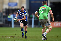 Rhys Priestland of Bath Rugby goes on the attack. Gallagher Premiership match, between Bath Rugby and Harlequins on March 2, 2019 at the Recreation Ground in Bath, England. Photo by: Patrick Khachfe / Onside Images