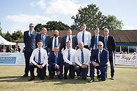 The Upminster side pose prior to the fixture between  Upminster CC vs Essex CCC, Benefit Match Cricket at Upminster Park on 8th September 2019