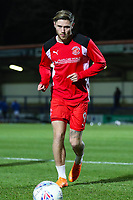 Wes Burns of Fleetwood Town warming up before the Sky Bet League 1 match between Rochdale and Fleetwood Town at Spotland Stadium, Rochdale, England on 20 March 2018. Photo by Thomas Gadd.
