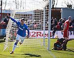 Nicky Clark celebrates his goal for Rangers
