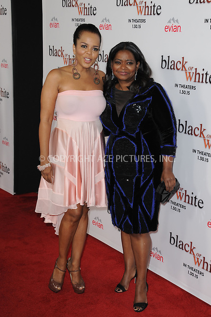 WWW.ACEPIXS.COM<br /> <br /> January 20 2015, LA<br /> <br /> Paula Newsome and Octavia Spencer arriving at the premiere of Relativity Media's 'Black or White' at Regal Cinemas L.A. Live on January 20, 2015 in Los Angeles, California.<br /> <br /> By Line: Peter West/ACE Pictures<br /> <br /> <br /> ACE Pictures, Inc.<br /> tel: 646 769 0430<br /> Email: info@acepixs.com<br /> www.acepixs.com