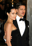 "WESTWOOD, CA. - December 08: Actress Angelina Jolie and Actor Brad Pitt arrive at the  Los Angeles premiere of ""The Curious Case Of Benjamin Button"" at the Mann's Village Theater on December 8, 2008 in Los Angeles, California."