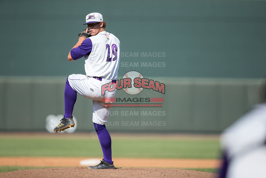 Winston-Salem Dash relief pitcher Ian Hamilton (29) in action against the Potomac Nationals at BB&T Ballpark on August 6, 2017 in Winston-Salem, North Carolina.  The Nationals defeated the Dash 4-3 in 10 innings.  (Brian Westerholt/Four Seam Images)