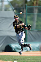 Pittsburgh Pirates Chase Simpson (47) during a minor league spring training game against the New York Yankees on March 28, 2015 at Pirate City in Bradenton, Florida.  (Mike Janes/Four Seam Images)