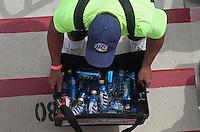 Apr. 7, 2013; Las Vegas, NV, USA: A beer vendor sells bottles of beer in the grandstands during NHRA eliminations for the Summitracing.com Nationals at the Strip at Las Vegas Motor Speedway. Mandatory Credit: Mark J. Rebilas-