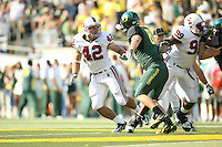 2 September 2006: Will Powers (42) and Levirt Griffin (99) during Stanford's 48-10 loss to the Oregon Ducks at Autzen Stadium in Eugene, OR.