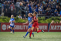 Boston, MA - Sunday September 10, 2017: Julie King, Nadia Nadim during a regular season National Women's Soccer League (NWSL) match between the Boston Breakers and Portland Thorns FC at Jordan Field.
