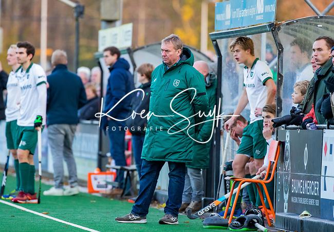 BLOEMENDAAL - coach Albert Kees Manenschijn (Rdam) tijdens  hoofdklasse competitiewedstrijd  heren , Bloemendaal-Rotterdam (1-1) .COPYRIGHT KOEN SUYK